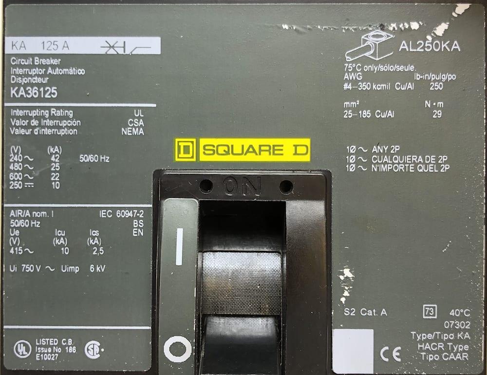 Square D KA36125-CL
