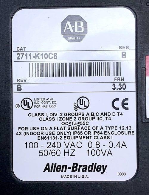 Allen Bradley 2711-K10C8