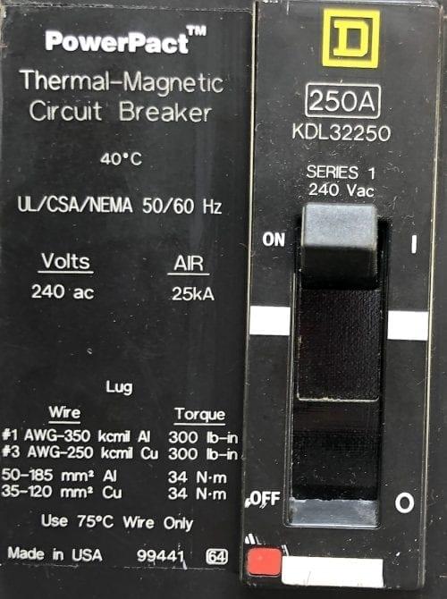 Square D KDL32250
