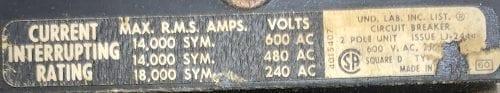 Square D FA26060AC-BF