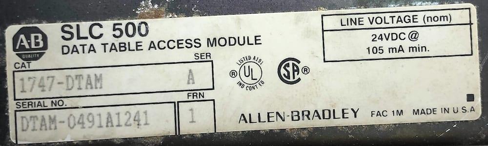 Allen Bradley 1747-DTAM