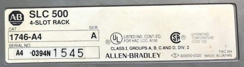 Allen Bradley 1746-P4