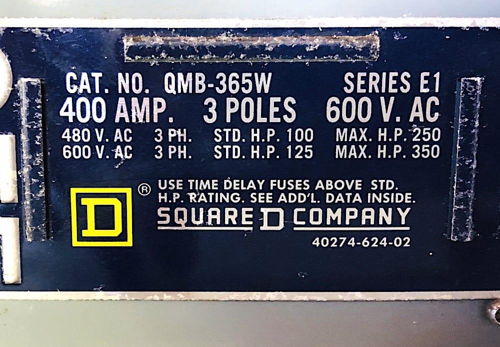 Square D QMB-365W