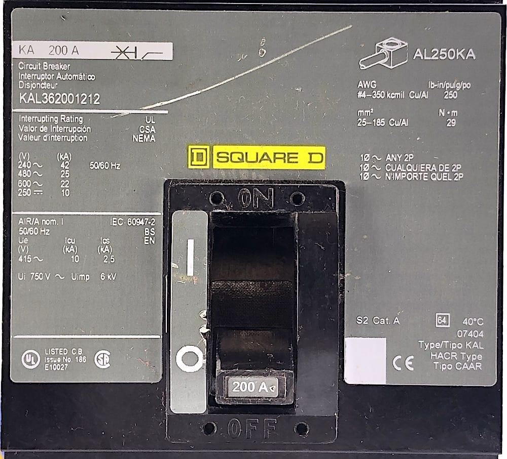 Square D KAL362001212-CL