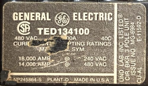 General Electric TED134100-BF