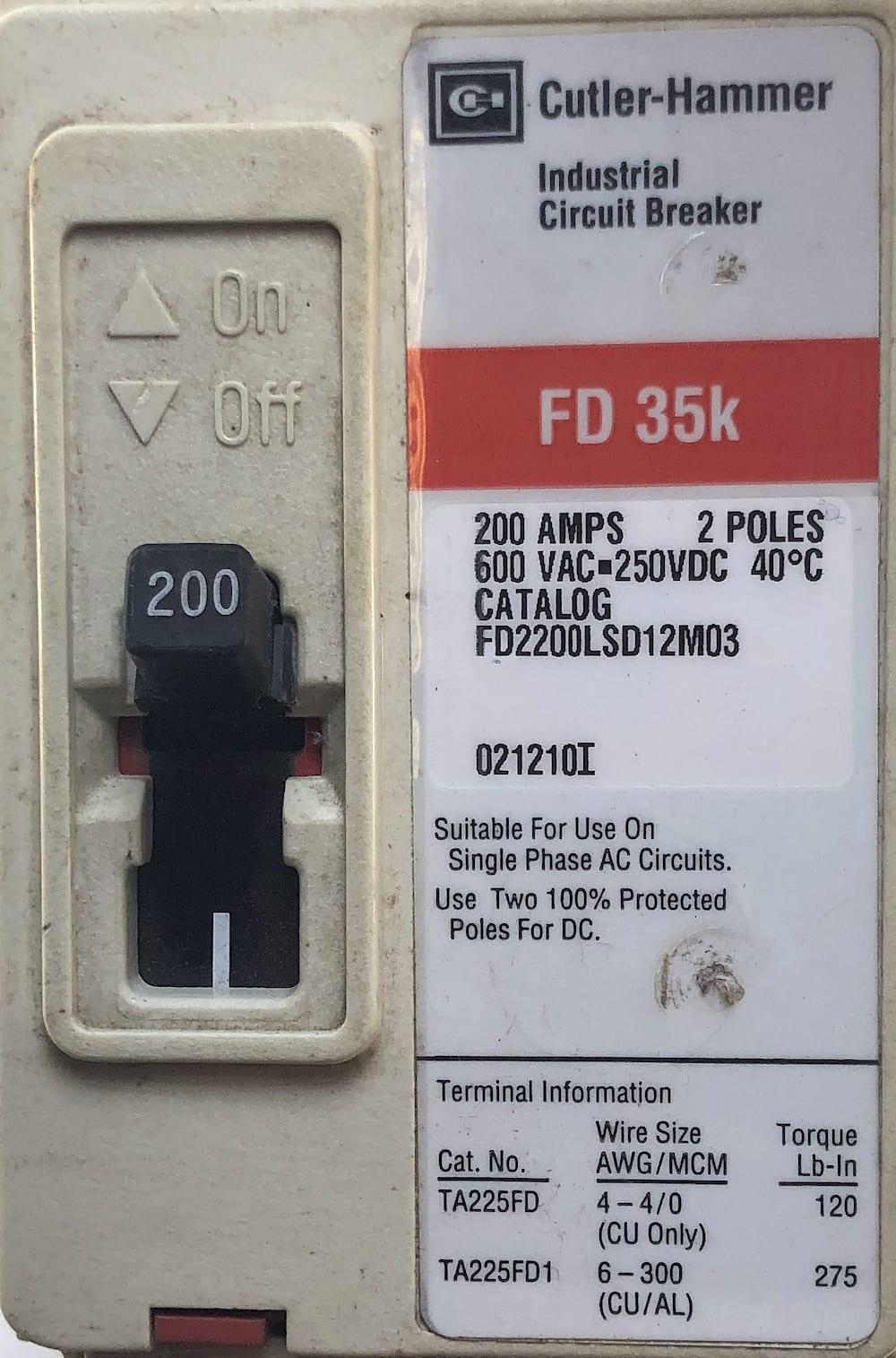 Cutler Hammer FD2200LSD12M03-RL