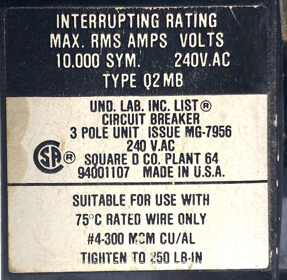 Square D Q2M3225MB