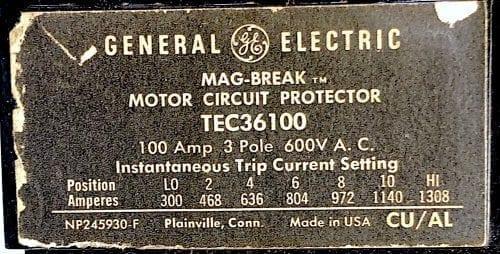 General Electric TEC36100