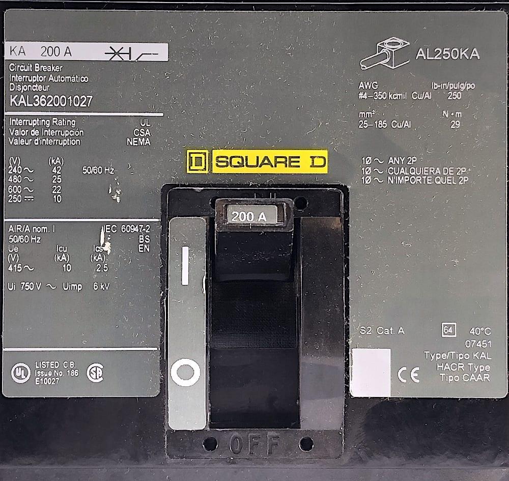 Square D KAL362001027-CL