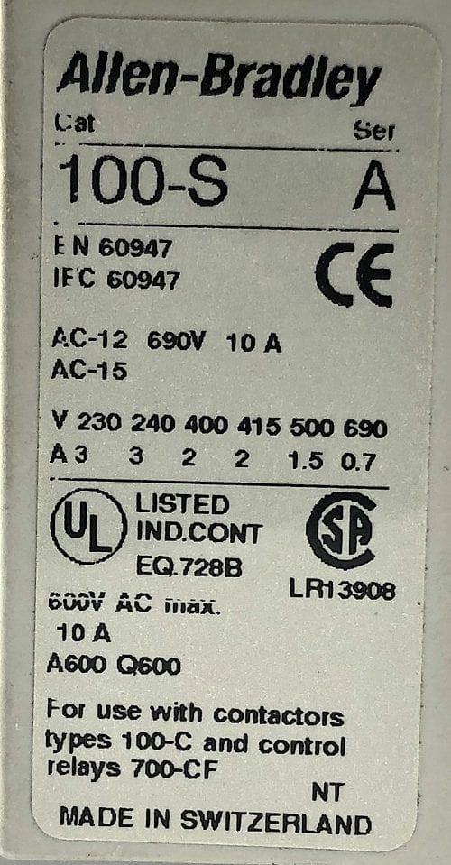 Allen Bradley 100-C37D*00