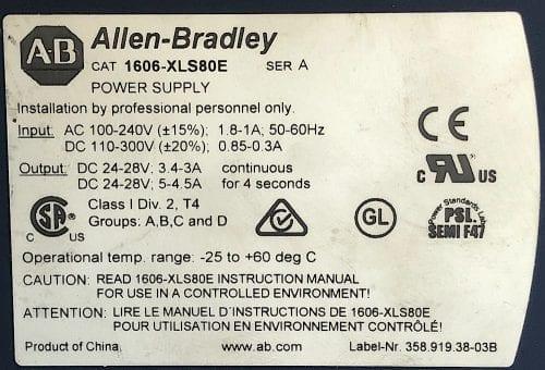 Allen Bradley 1606-XLS80E