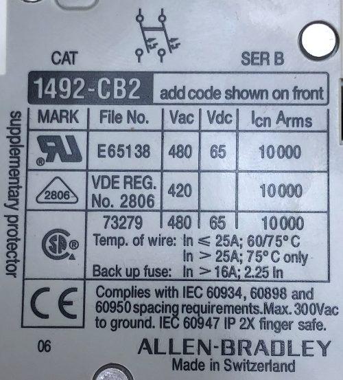 Allen Bradley 1492-CB2G100