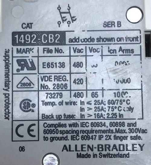 Allen Bradley 1492-CB2G150